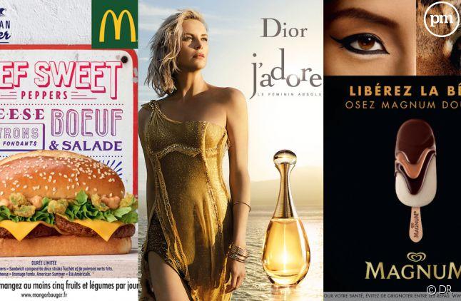 Les pubs McDonald's, Dior et Magnum