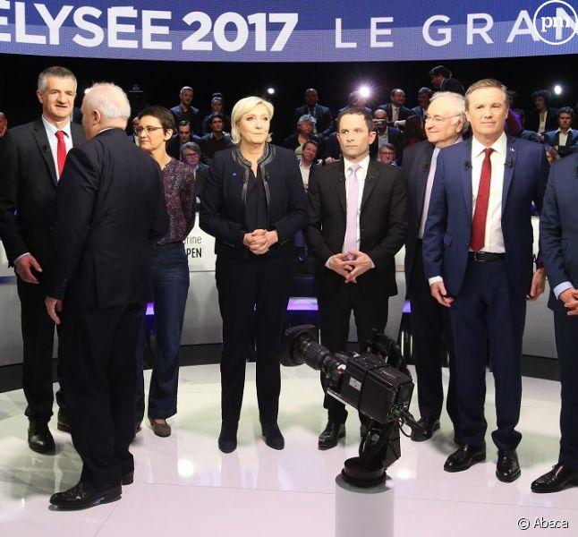 Les onze candidats à la présidentielle.