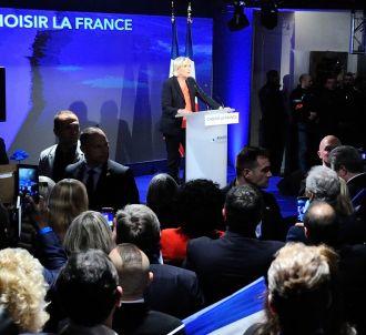 Marine Le Pen à sa soirée électorale au bois de...