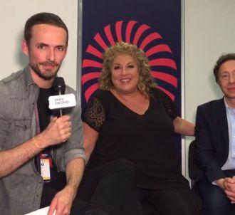 Stéphane Bern et Marianne James commentent la finale de...