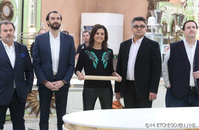 """Faustine Bollaert et le jury du """"Meilleur Pâtissier, Les Professionnels"""""""