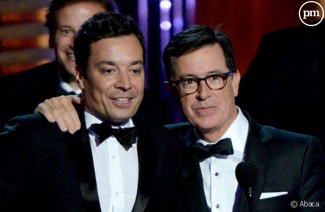 Jimmy Fallon et Stephen Colbert