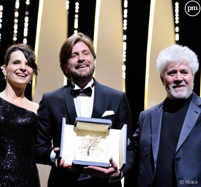 "La palme d'or 2017 attribuée à Ruben Ostlund pour son film ""The Square""."