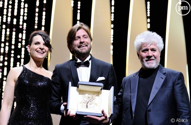 """La palme d'or 2017 attribuée à Ruben Ostlund pour son film """"The Square""""."""