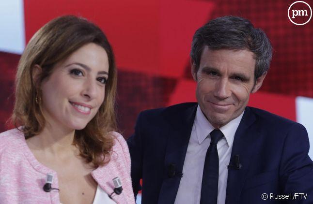 Léa Salamé et David Pujadas