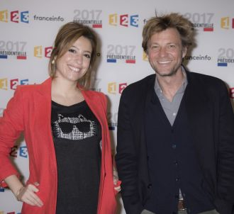 Léa Salamé et Laurent Delahousse.
