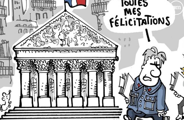 """Le dessin de Plantu, à la Une du journal """"Le Monde""""daté du 20 juin."""