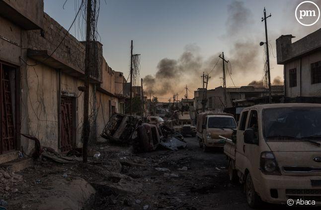 Conflit entre les Kurdes et Daesh à Mossoul.