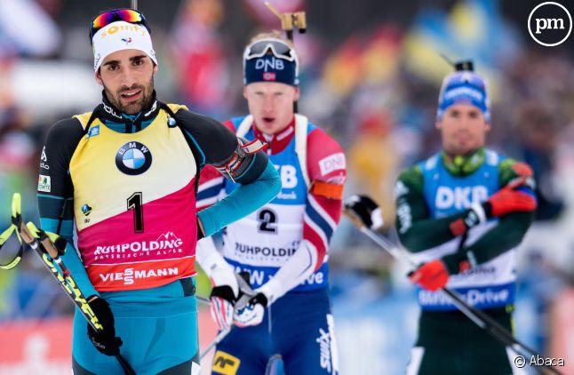 Martin Fourcade, porte-drapeau de l'équipe de France aux JO d'hiver en Corée du sud.