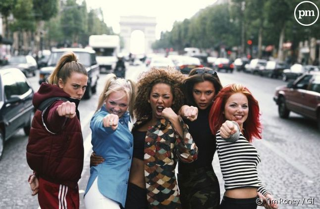 Les Spice Girls à Paris en 1996