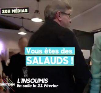 Jean-Luc Mélenchon s'emporte contre 'C à vous'.