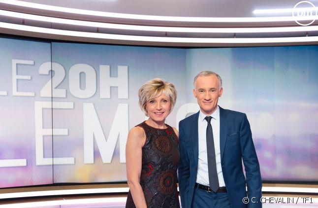 """Évelyne Dhéliat et Gilles Bouleau (""""20h le mag"""")"""