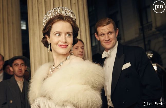 "Claire Foy et Matt Smith dans ""The Crown"""