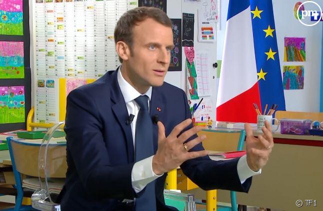 """Emmanuel Macron face à Jean-Pierre Pernaut dans le """"13 Heures"""" de TF1"""