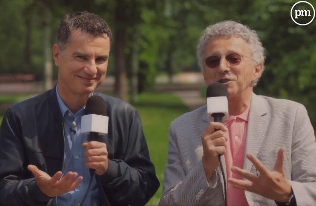 """Laurent Luyat et Nelson Monfort dans """"J'aime le tennis"""""""