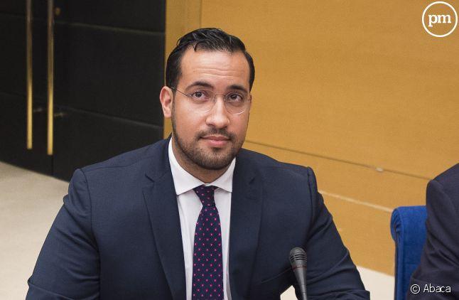 Alexandre Benalla lors de la commission d'enquête au Sénat