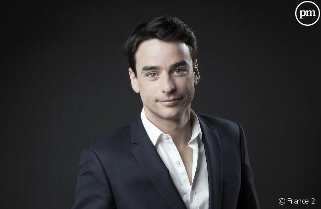 """Julian Bugier présentait le """"20 Heures"""" de France 2 hier soir."""