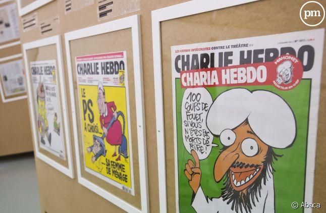 Une fresque street-art en hommage aux victimes de Charlie Hebdo — Paris