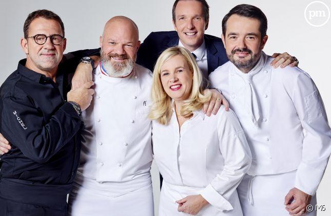"""Les jurés de """"Top Chef"""" en compagnie de Stéphane Rotenberg"""