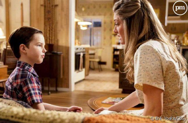 "Iain Armitage et Zoe Perry dans ""Young Sheldon"""
