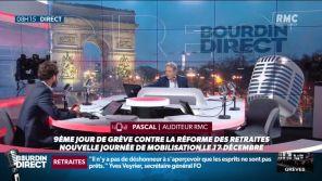 Retraites : Une auditrice pousse un coup de gueule contre la grève, Jean-Jacques Bourdin la coupe à l'antenne