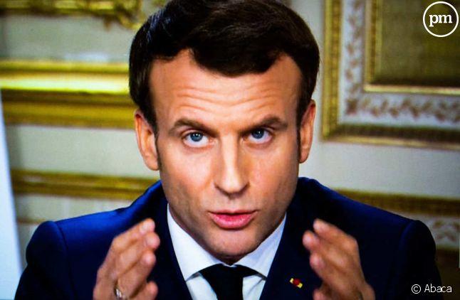 Emmanuel Macron lors de son allocution du 12 mars 2020