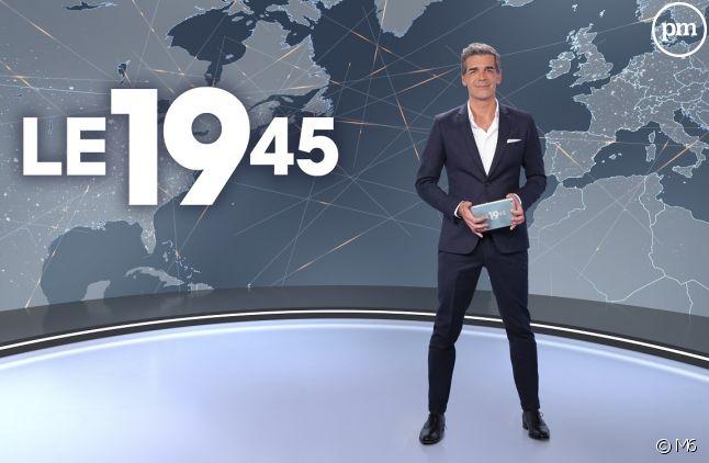 """Xavier des Moulins, présentateur du """"19.45"""" sur M6."""