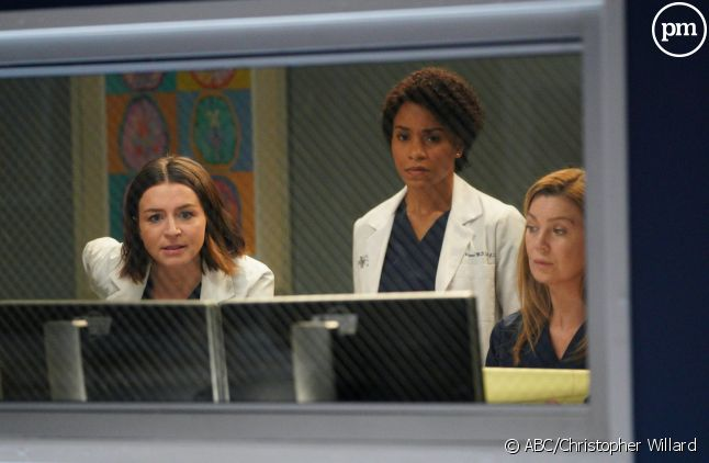 "Caterina Scorsone, Kelly McCreary et Ellen Pompeo dans ""Grey's Anatomy"" saison 16"