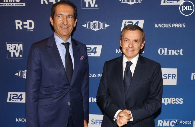 Patrick Drahi et Alain Weill en 2018