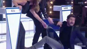 """""""Le grand concours"""" : Christophe Beaugrand chute après une danse avec Alessandra Sublet"""