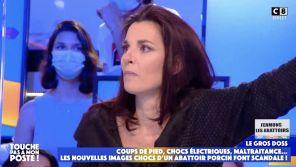 """""""Touche pas à mon poste"""" : Déchaînée, une militante animaliste compare les abattoirs aux camps nazis"""