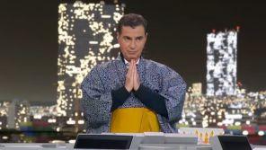 Jeux Olympiques : Laurent Luyat enfile une tenue traditionnelle sur France 2 pour son anniversaire