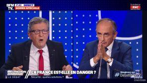 """""""Vous n'avez pas honte de parler comme ça !?"""" : Jean-Luc Mélenchon s'emporte contre Eric Zemmour sur les musulmans"""