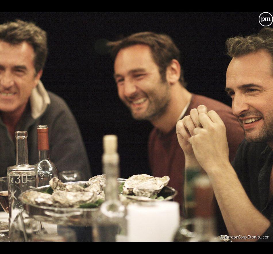 """François Cluzet, Gilles Lellouche et Jean Dujardin dans """"Les petits mouchoirs"""""""
