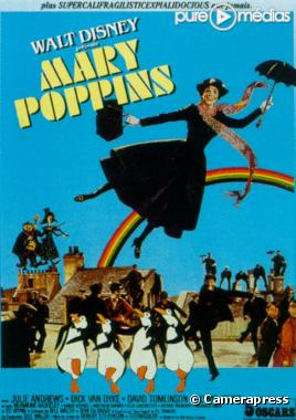 Affiche : Mary poppins - photo Emily Blunt