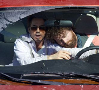 Robert Downey, Jr. et Zach Galifianakis dans 'Date limite'