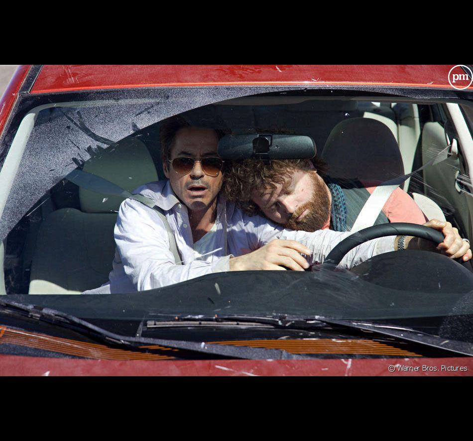 "Robert Downey, Jr. et Zach Galifianakis dans ""Date limite"""