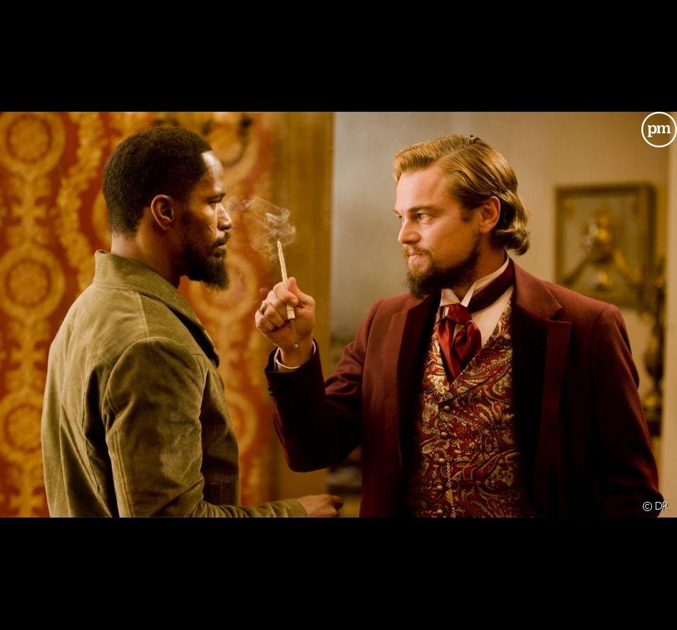 "Jamie Foxx et Leonardo DiCaprio s'affrontent dans ""Django Unchained""."