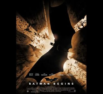 Affiche de 'Batman begins'.