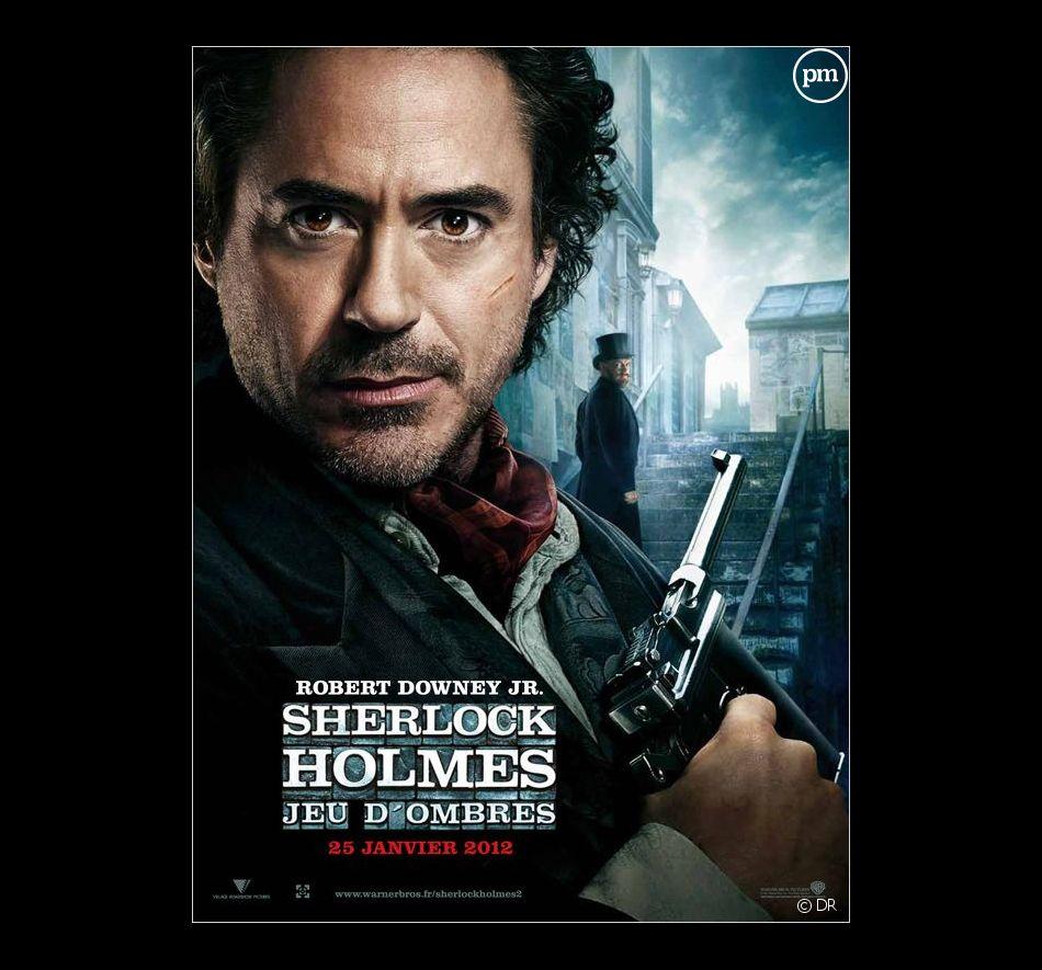 """Robert Downey, Jr. sur l'affiche de """"Sherlock Holmes 2 : Jeu d'ombres"""""""