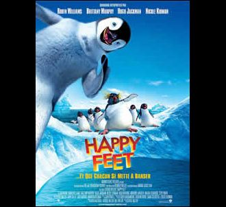 Affiche de 'Happy Feet'.
