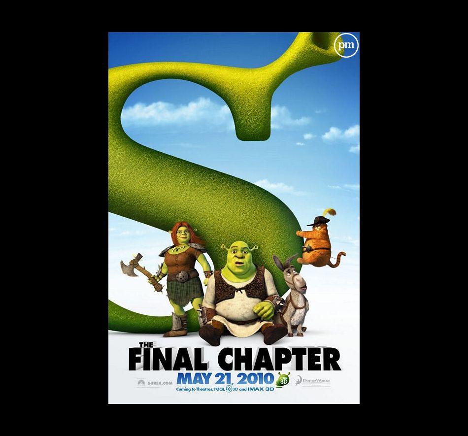 """Affiche américaine de """"Shrek 4, il était une fin"""""""