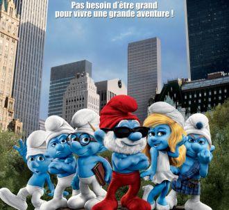 L'affiche française du film 'Les Schtroumpfs'