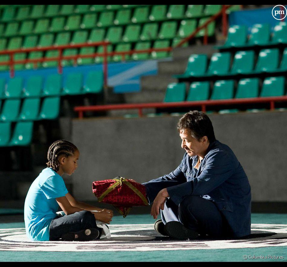 "Jaden Smith et Jackie Chan dans ""Karaté Kid"""