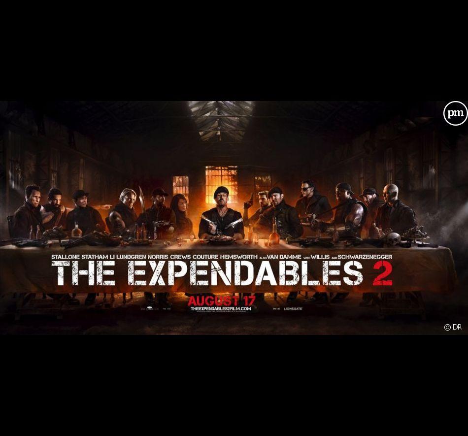 """L'affiche américaine de """"Expendables 2 : Unité spéciale"""""""