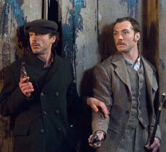 Robert Downey, Jr. et Jude Law dans 'Sherlock Holmes'