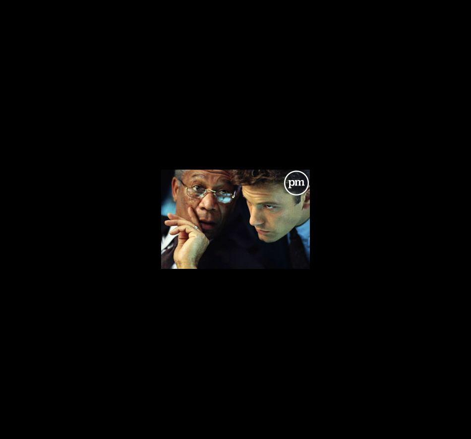 """Morgan Freeman et Ben Affleck dans """"La somme de toutes les peurs"""""""