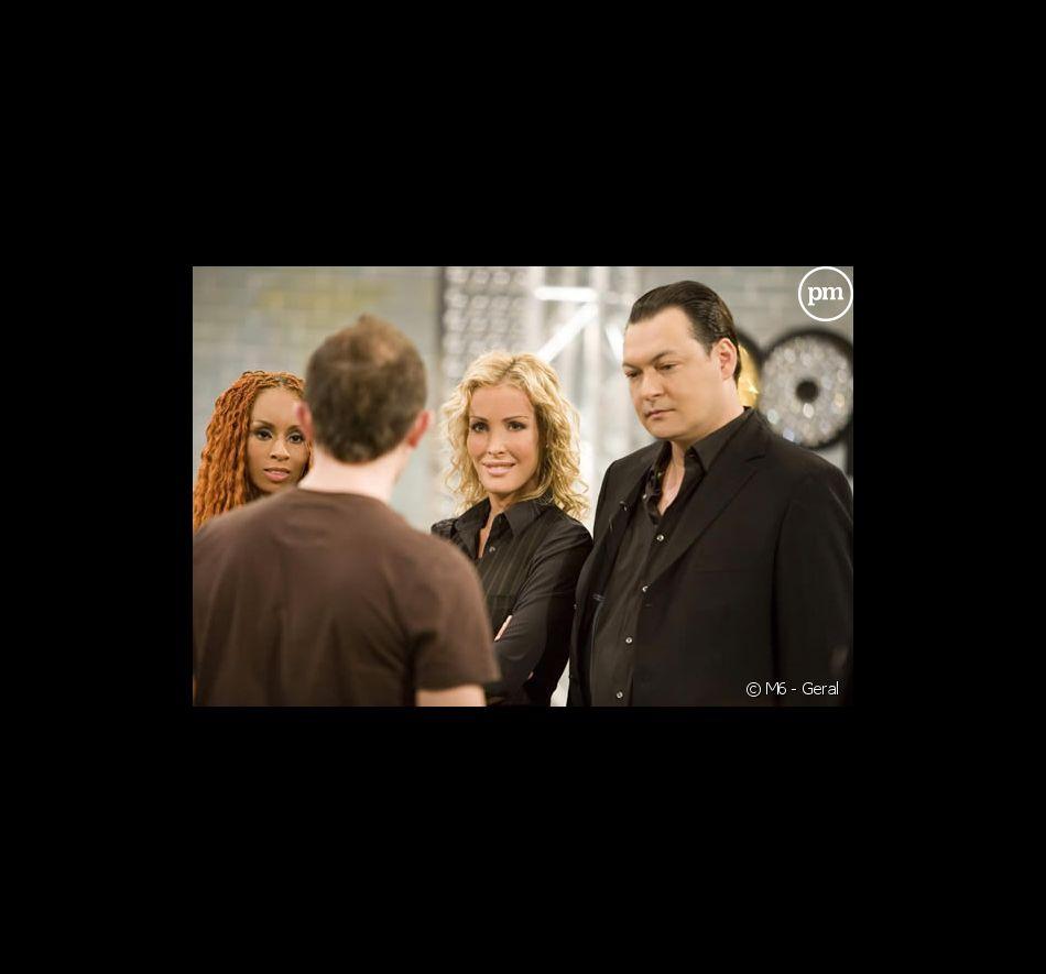 "Mia Frye, Ophélie Winter et Benjamin Chulvanij dans ""Popstars 2007"""
