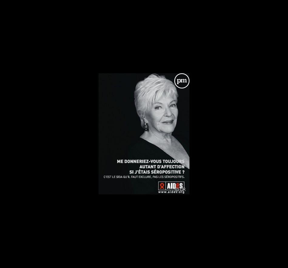 Line Renaud, pour la nouvelle campagne AIDES.