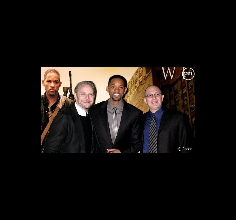 """Francis Lawrence et Will Smith lors de l'avant-première de """"Je suis une légende"""""""